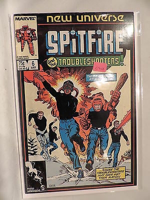 #6 Spitfire and the troubleshooters 1986 Marvel Comics C456