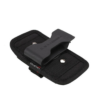 Nylon Holder Case Protector 360° Clip Pouch For LED Flashlight Torch Light