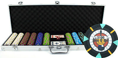 New 600 Rock & Roll 13.5g Clay Poker Chips Set with Aluminum Case - Pick Chips!