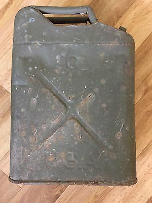 American Jerry Can Willys Jeep Post WW2 new seal decal and used octane tang