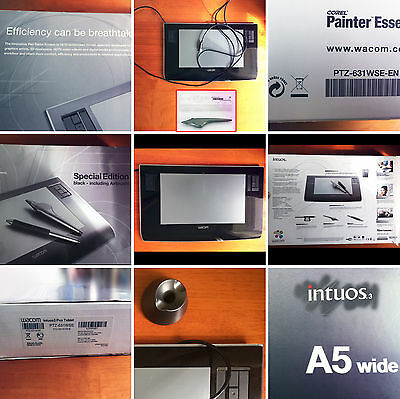 Wacom Intuos 3 Special Edition A5 Wide Black USB tablet inc Airbrush