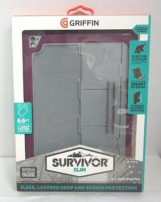 "GRIFFIN - Survivor Slim Protective Case for 9.7"" iPad Pro - Gray, Sangria"