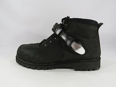 Icon Men's Black Motorcycle Boots Side Buckle Size 10