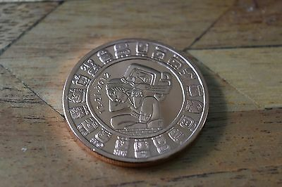 1 oz MAYAN CALENDAR Copper Coin .999 Bullion Round
