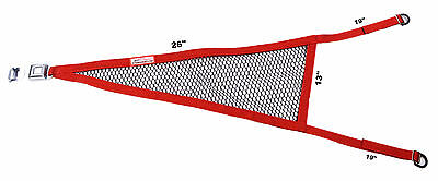 Sprint Car Usac 2 Point Mesh Roll Cage Net Red With Black Mesh Buckle & Tongue