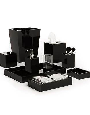 Mike & Ally Black Ice Lucite 5-Piece Bath Accessory Set