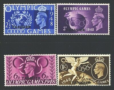 MOROCCO AGENCIES Sc527-30 SG257-60 MH 1948 KGVI Olympic Games set of 4 SCV$4
