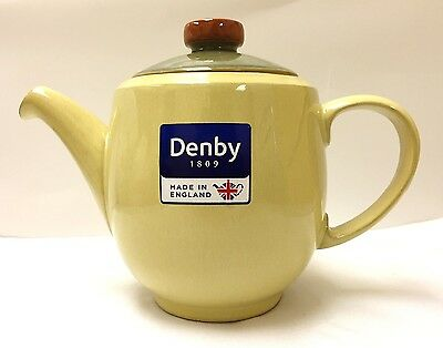 Denby Fire Large Teapot Yellow - Brand New with Tags - Discontinued Item