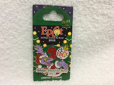 Disney Epcot Figment Holidays Around the World Limited 20th Anniversary Pin 2013