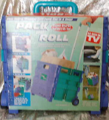 Pack And Roll Folding Utility Shopping Cart New