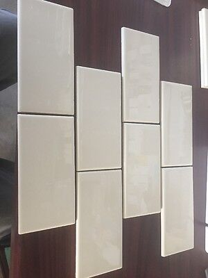 DALTILE SEMI Gloss Almond X X Ceramic Tile V Cap - 4x4 almond wall tile