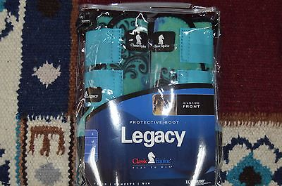 New Classic Equine Legacy Splint boots Schrol pattern Hind Boots