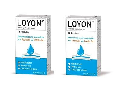 2 X Loyon Scaly Skin Diseases Conditions Psoriasis Cradle Cap Scales Treatment