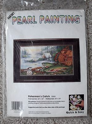 NIP Vintage Candamar Designs Pearl Painting Fisherman's Catch Kit
