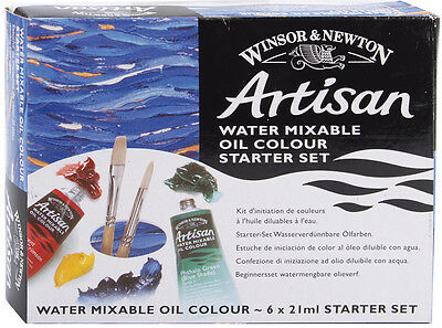 Winsor & Newton Artisan Water Mixable Oil Paints 21ml 6/Pkg Assorted Colors 1590
