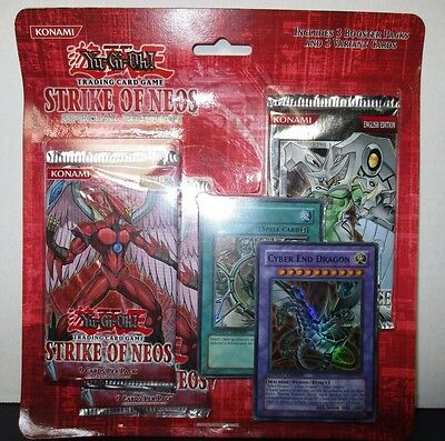 Yugioh Strike of Neos Special Edition 3 Total Packs + Cyber End Dragon & Shrink