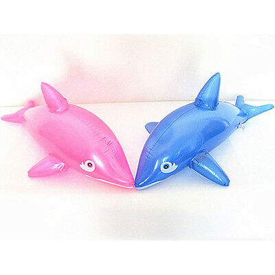 Funny Inflatable Dolphin Fish Swimming Pool Beach Party Baby Toy PVC Prop 50CM