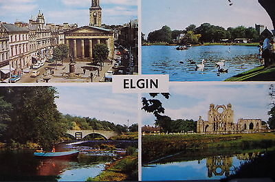 1970's VINTAGE POSTCARD - GREETINGS FROM ELGIN, MORAY, SCOTLAND 2