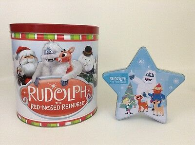 Rudolph The Red-Nosed Reindeer ISLAND MISFIT TOYS Popcorn Ornament Star Case Tin
