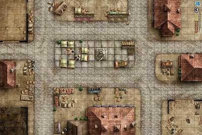 "Gale Force Nine - D&D: Market Square Vinyl Mat (20"" x 30"")  72753"