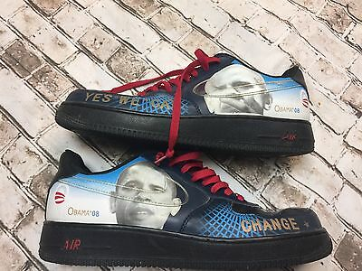 Nike Air President Obama 08 Sneakers YES WE CAN Tennis Shoes Size 10.5