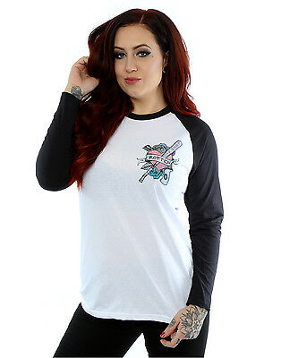 Suicide Squad Women's Harley Quinn Rotten Long Sleeved Baseball Shirt