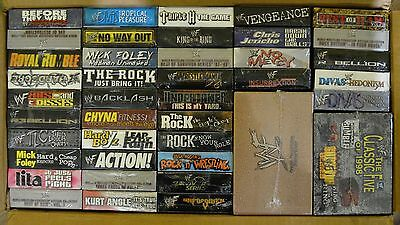 Wholesale Lot of 49 VHS Wrestling Stone Cold Comes With a T Shirt Free Shipping