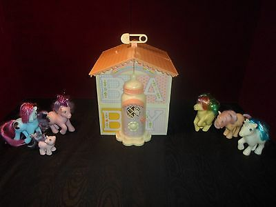 Vintage 1985 My Little Pony G1 Lullaby Nursery Play Set & Ponies princess pony