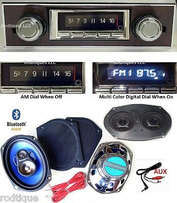 1967-68 Camaro Bluetooth Radio + Stereo + Speaker + 6x9's WG Bezel NO AC  740