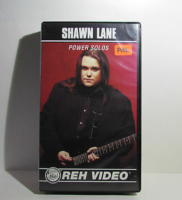 Shawn Lane Power Solos REH Guitar Instructional Video VHS 1993