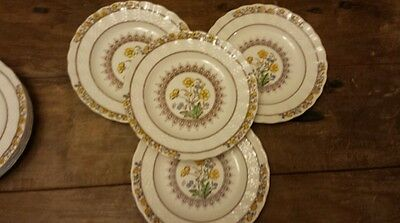 """Estate Spode Buttercup Set Of 4 Bread And Butter Plates 6 5/8"""" New Mark"""