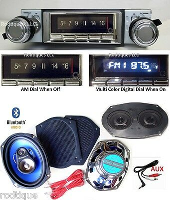 1969 Camaro Bluetooth Radio + Stereo Dash Replacement Speaker + 6x9's NO AC  740