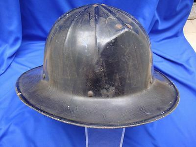 Vintage CAIRNS NY Fireman Straight Helmet w/ Leather Insert W. TURNER No. 2579
