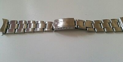 Genuine Vintage Rare  Rolex Bracelet. 1966 number 57 end pieces.  Fits 19mm Case