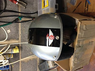 Davida Jet Helmet .silver With Black Stripe. Extra Large Xxl / 64