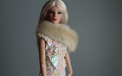 ~Tourmaline Cream Mink Fur Infinity Shoulder Wrap 4 Gene Sydney dolls~by dimitha
