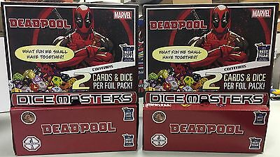Dice Masters DEADPOOL new sealed TWO 90-pack booster boxes in return case CANADA