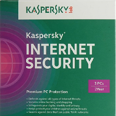 Kaspersky INTERNET SECURITY 2017 3 Devices 2 Year for Window PC License Key Only