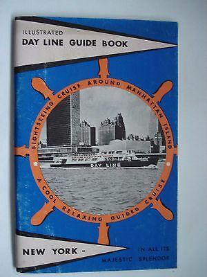 Illustrated Day Line English Guide Book New York 1960 Vintage