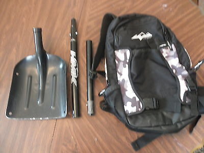 HMK Shovel Klim Nac Pak Snowmobile Enduro Hydration Back Pack Mountain VGC