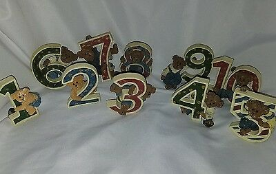 Boyds Bears Resin Numbers B.H. BEANSTER Figurine Complete Set 1 through 10