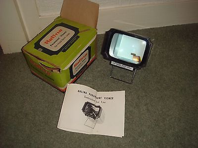 Vintage Halina Paramount Viewer - 35mm Slide Viewer 1960's Boxed