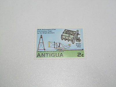 Timbre Poste Neuf Stamp TTB Antigua First Airplane Flight by Wright Brothers 2c