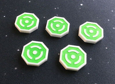 Imperial Assault compatible, acrylic 'focus' tokens x 5