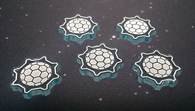 X-Wing Miniatures compatible, acrylic shield tokens (type 2) x 5