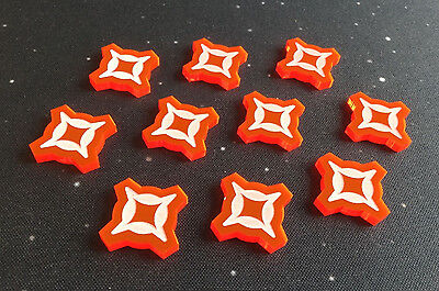 Imperial Assault compatible, acrylic 'damage' tokens x 10
