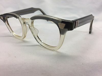 NOS Vintage Eyeglasses Horn Rim Graceline Gray Clearbridge Authentic Beauty K26