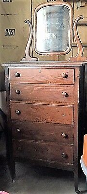 Antique Vintage Dresser with Mirror