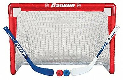 Kids NHL Street Hockey Goal,Stick and Ball Set Weather Resistant Practice Net