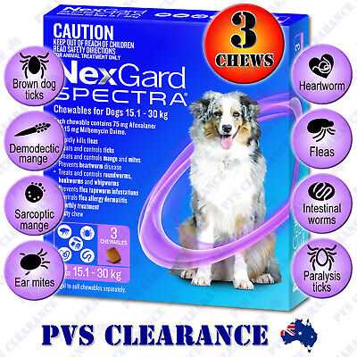 Nexgard Spectra Purple 3 for Large Dogs 15.1 - 30 kg 3 Pack Nexguard Spectrum